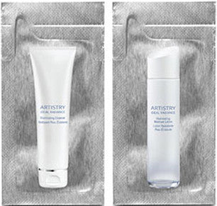 Artistry Ideal Radiance Illuminating Cleanser and Moisture Lotion (toner) Foil Samples - MsBlueSleeve