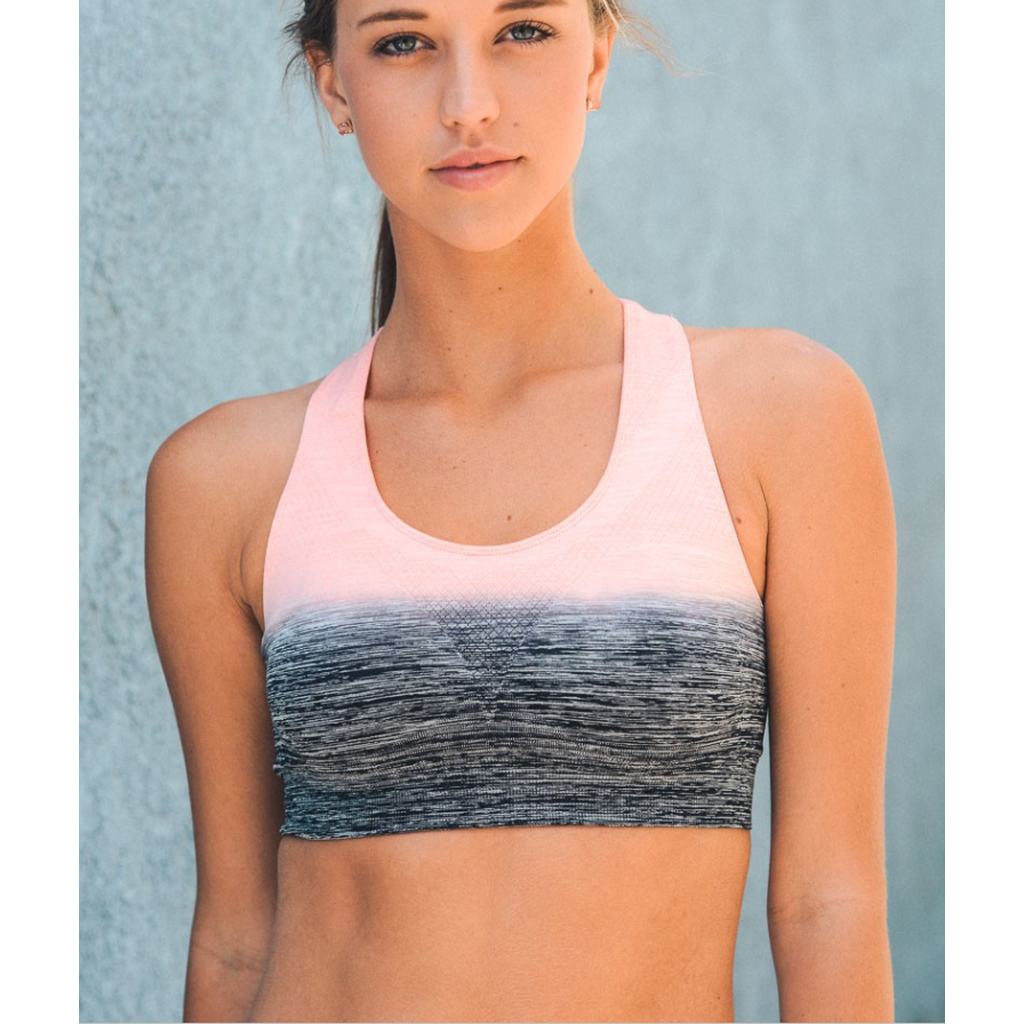 Pink / Gray Ombre Sports / Yoga Bra