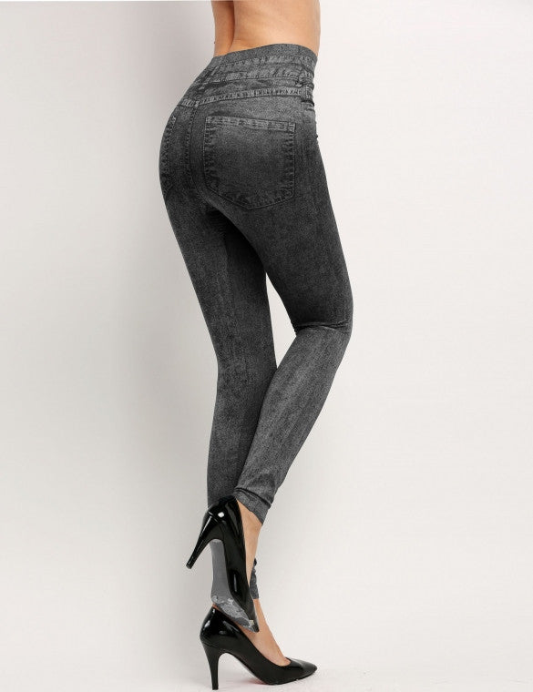Womens Fitted Denim Jeggings (One Size)