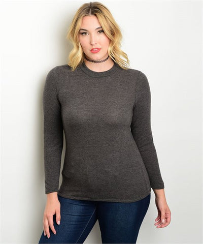 Charcoal Plus Size Top