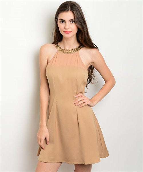 Womens Sexy Flare Dress - MsBlueSleeve - 1
