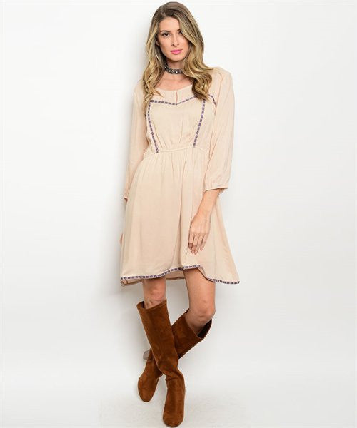 Taupe Wine Dress
