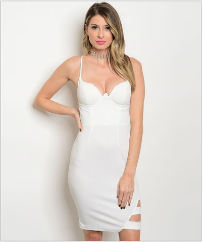 Sexy Ivory Bodycon Dress