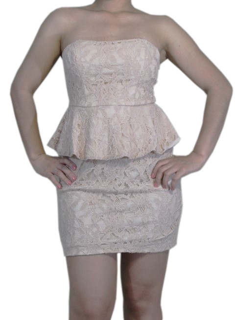 Sexy Short Peplum Lace Dress for Womens (GENTLY WORN) - MsBlueSleeve