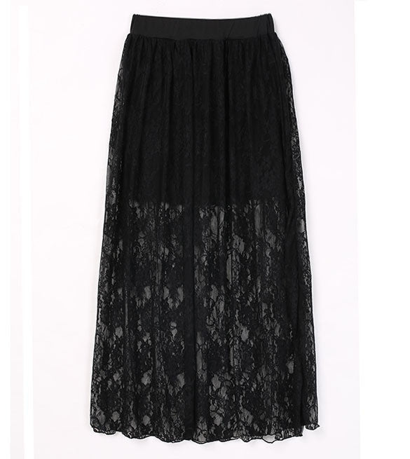Womens Floral Lace Sheer Skirt (One size)