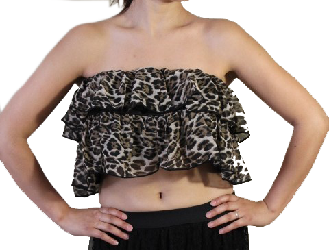 Crop Top Leopard Print for Womens - MsBlueSleeve