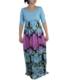 Womens Printed Maxi Dress
