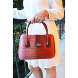 Le Sac Woven Two-toned Hardshell Handbag (Gently Used)