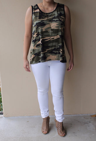Camouflage Top for Women