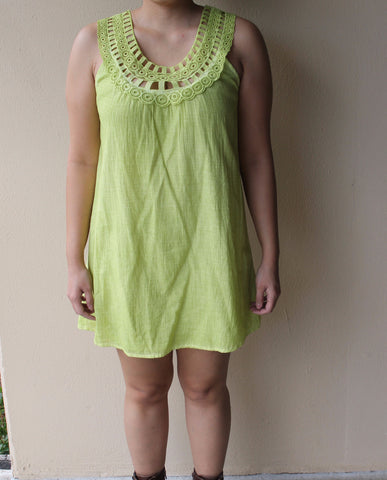 Apple Green Dress
