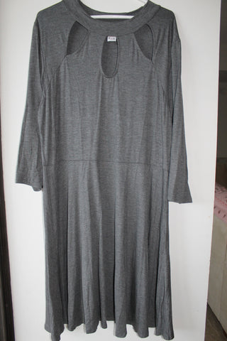 Gray Loose Plus Size Dress