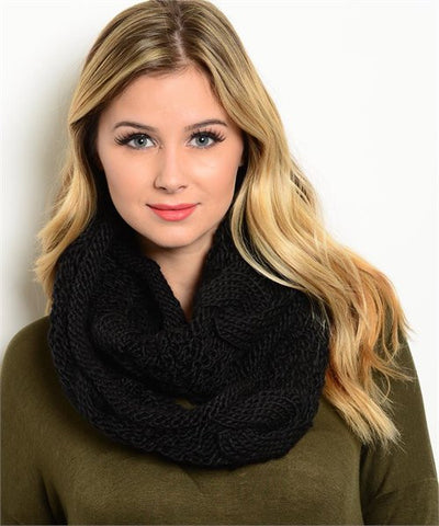 Winter Black Scarf