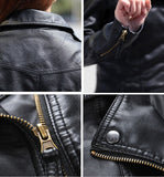Womens Faux Leather Jacket - MsBlueSleeve - 5