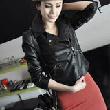 Womens Faux Leather Jacket - MsBlueSleeve - 2