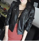 Womens Faux Leather Jacket - MsBlueSleeve - 3