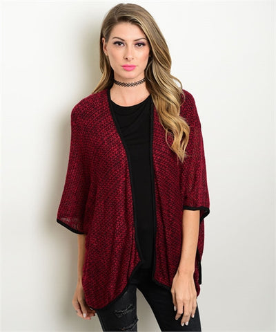 Red Cardigan for Women - MsBlueSleeve - 1