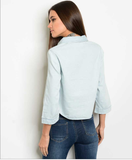 Chambray Denim Top
