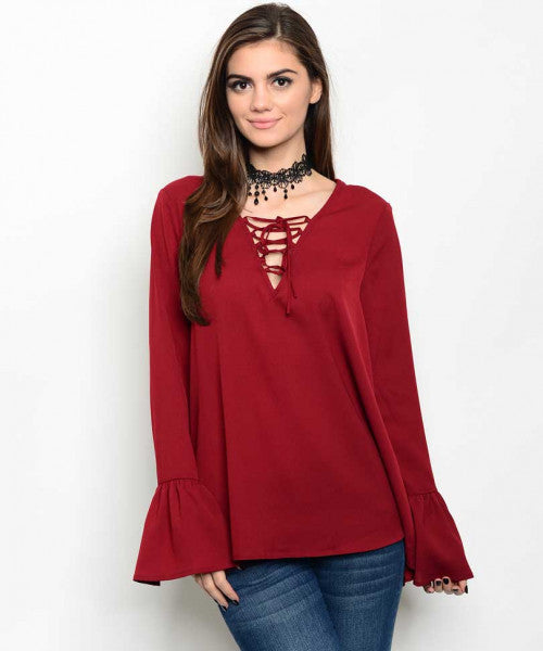 Red Fashion Top