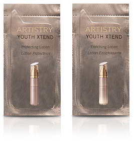 Artistry Youth Xtend Protecting Lotion and Enriching Lotion Foil Samples - MsBlueSleeve
