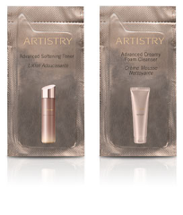 Artistry Youth Xtend Advanced Creamy Foam Cleanser and Advanced Softening Toner Foil Samples - MsBlueSleeve