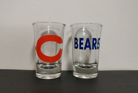 Chicago Bears custom logo shot glass personalized football NFL