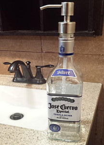 Liquor Bottle Soap Lotion Dispenser Mancave handmade pump mancrafted