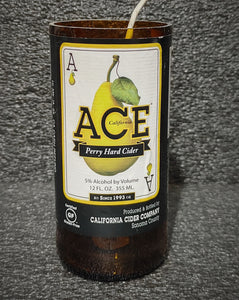 Ace Perry Hard Cider Beer Bottle Scented Soy Candle