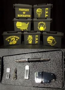 Ammo Box Custom Carbon Fiber Gift Set Personalized Military