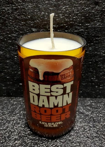 Best Damn Root Beer Scented Soy Wax Candle Liquor Mancave Mancrafted
