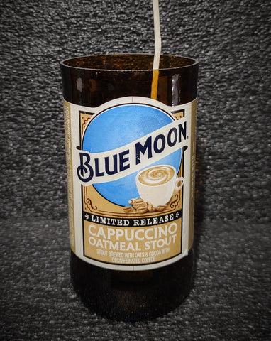 Blue Moon Cappuccino Oatmeal Stout Beer Bottle Scented Soy Candle