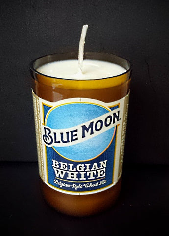 Blue moon ManCrafted Beer Bottle Scented Soy Candles for mancave