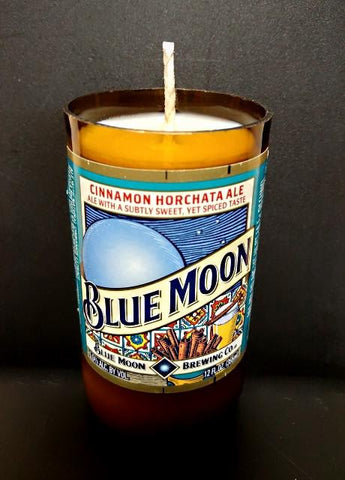 Blue Moon Cinnamon Horchata Beer Bottle Scented Soy Candle