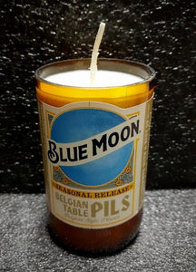 Blue Moon Belgian Pils beer bottle scented soy candle