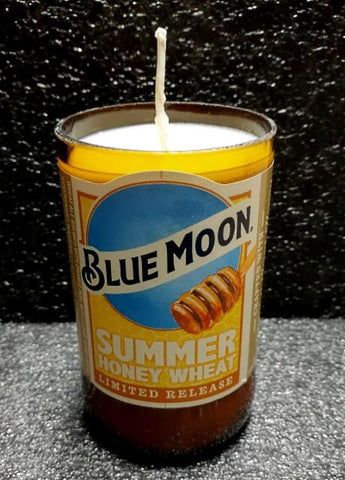Blue Moon Summer Honey Wheat Beer Bottle Scented Soy Candle