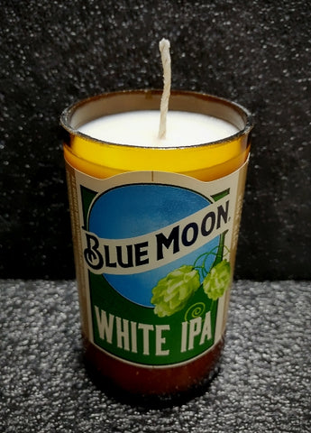 Blue Moon White IPA ManCrafted Beer Bottle Scented Soy Candles for mancave