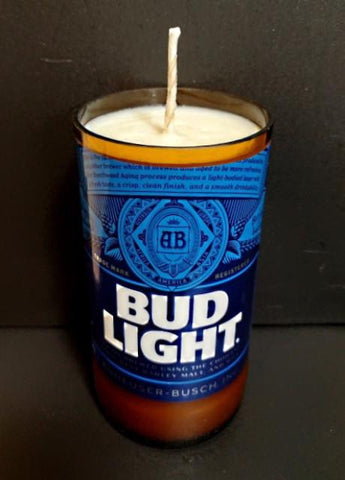 Bud Light Beer Bottle Candle