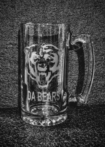 Chicago Bears custom logo beer mug personalized football NFL