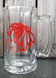 NHL Hockey Chicago Blackhawks Personalized logo beer mug
