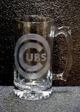 Chicago Cubs Official Logo Beer Mug Etched