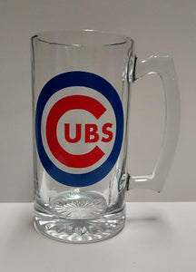 Chicago Cubs World Series Logo Beer Mug 2016
