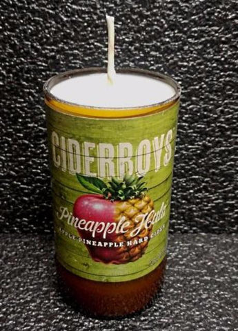 ciderboys pineapple hula ManCrafted Beer Bottle Scented Soy Candles for mancave