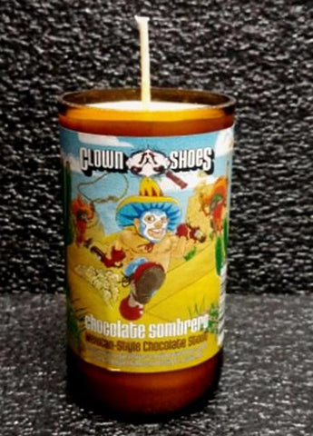 clown shoes sombrero mexican chocolate ManCrafted Beer Bottle Scented Soy Candles for mancave