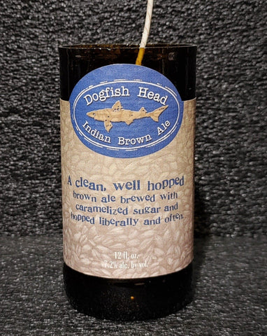 Dogfish Head Indian Brown Ale Beer Bottle Candle