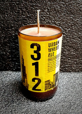 312 Urban Wheat Beer Bottle Scented Soy Wax Candle
