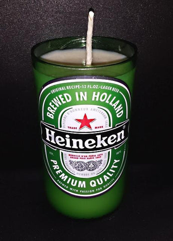 Heineken ManCrafted Beer Bottle Scented Soy Candles for mancave