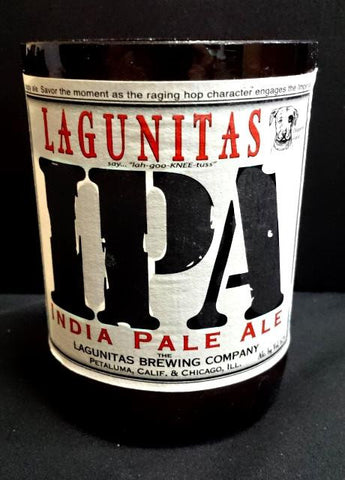 Lagunitas IPA ManCrafted Beer Bottle Scented Soy Candles for mancave