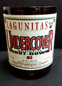 Lagunitas Undercover ManCrafted Beer Bottle Scented Soy Candles for mancave