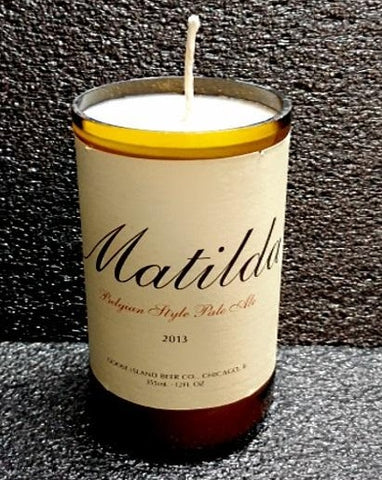 Matilda ManCrafted Beer Bottle Scented Soy Candles for mancave
