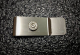 Nickel Brass 9mm Bullet Ammo Money Clip