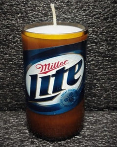 Miller Lite ManCrafted Beer Bottle Scented Soy Candles for mancave